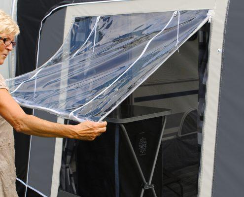 Walker voortent zijwand ventilatie