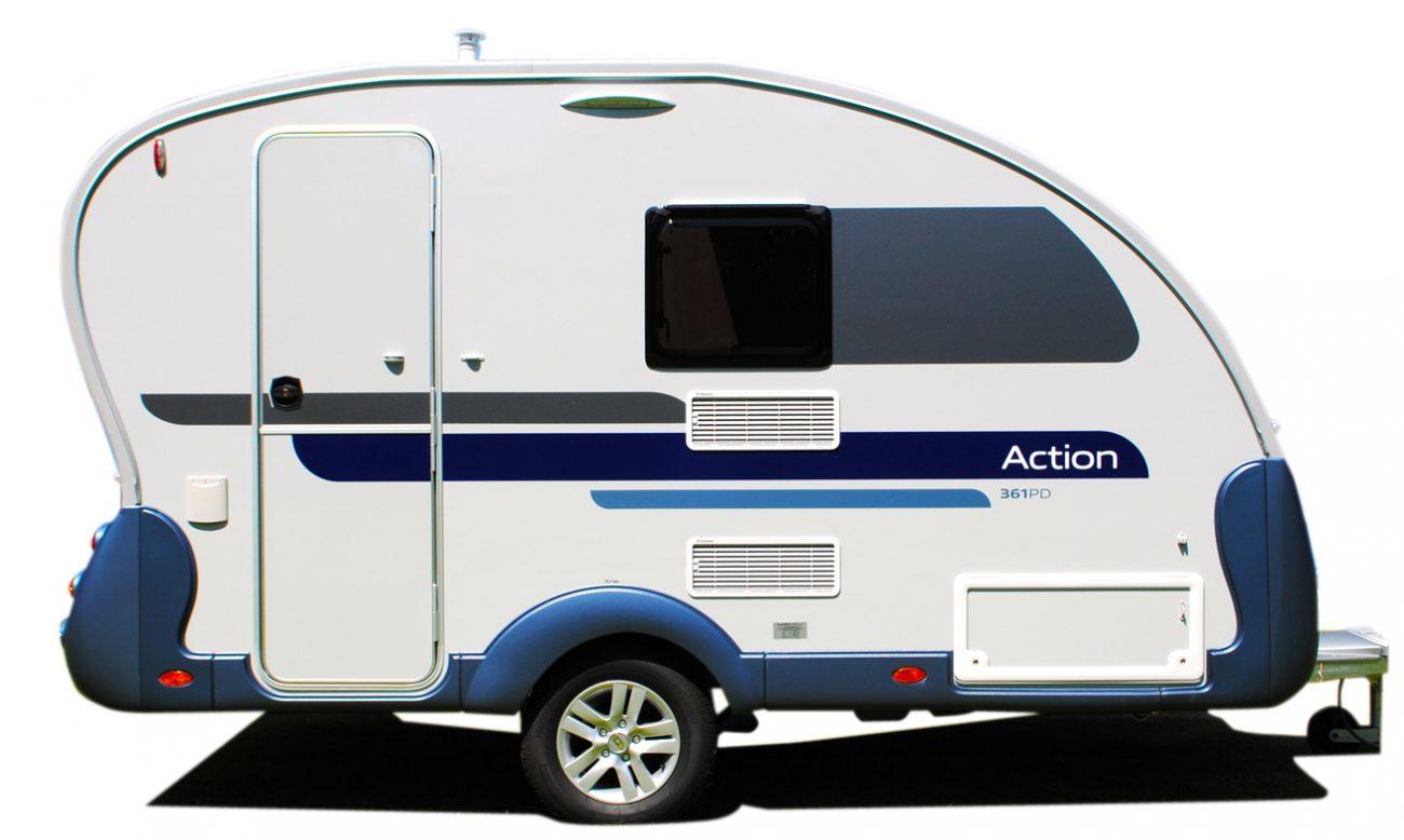 Speziell für die Adria Action Caravans hat Walker das Action Vorzelt ...